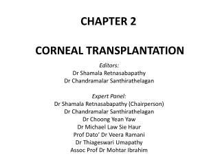 CHAPTER 2 CORNEAL TRANSPLANTATION
