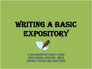 Writing a Basic Expository