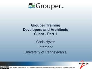 Grouper Training Developers and Architects  Client - Part 1