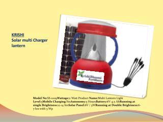 KRISHI Solar multi Charger  lantern