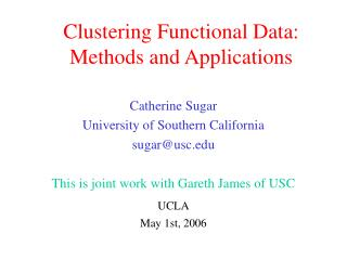 Clustering Functional Data: Methods and Applications