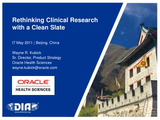 Rethinking Clinical Research with a Clean Slate