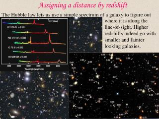 Assigning a distance by redshift