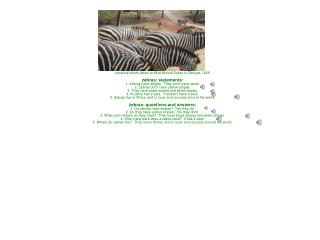 personal photo taken at Wild Animal Safari in Georgia, USA zebras: statements: