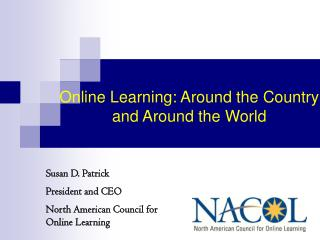 Distance Learning Around the Country and Around the World