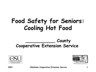 Food Safety for Seniors: Cooling Hot Food