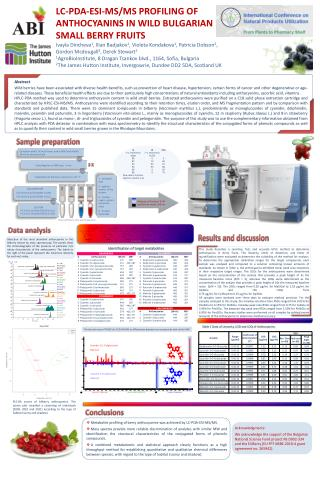 LC-PDA-ESI-MS/MS PROFILING OF ANTHOCYANINS IN WILD BULGARIAN  SMALL  BERRY FRUITS