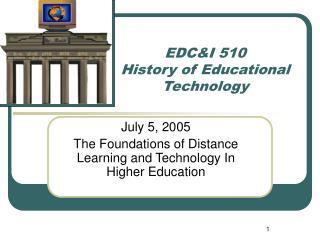 EDCI 510
