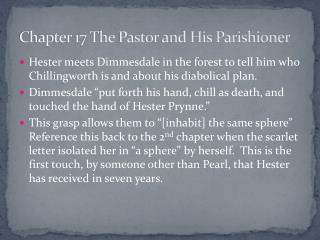 Chapter 17 The Pastor and His Parishioner
