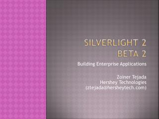 Silverlight 2  beta 2