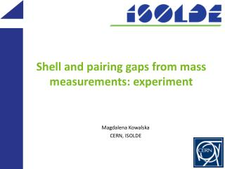 Shell  and pairing gaps from mass measurements: experiment