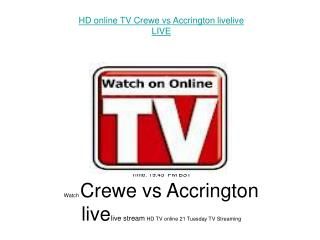Crewe vs Accrington LIVE FLC DIRECT TV Streaming
