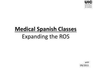 Medical Spanish Classes Expanding the ROS