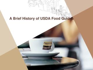 A Brief History of USDA Food Guides