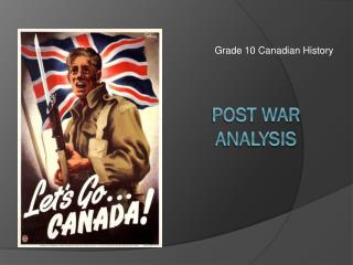 Post war  analysis
