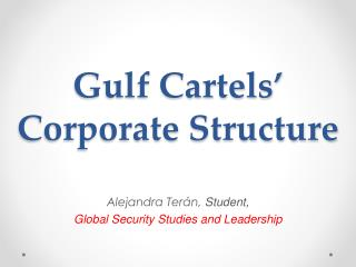 Gulf Cartels'  Corporate Structure