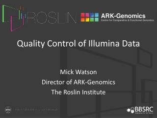 Quality Control of  Illumina  Data