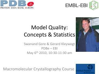 Model Quality: Concepts & Statistics