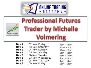 Professional Futures Trader by Michelle  Volmering