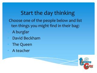 Start the day thinking