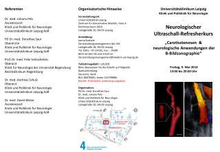 Universitätsklinikum Leipzig Klinik und Poliklinik für Neurologie ´ Neurologischer