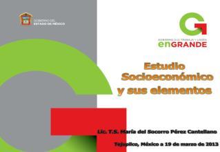 Estudio Socioeconómico y sus elementos