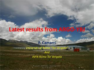 Latest results from ARGO-YBJ