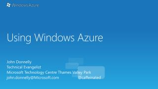 Using Windows Azure