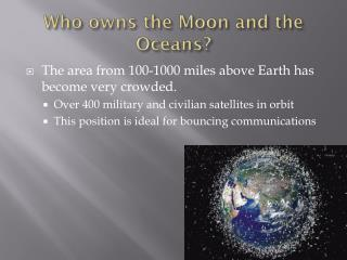 Who owns the Moon and the Oceans?