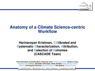 Anatomy of a Climate Science-centric Workflow