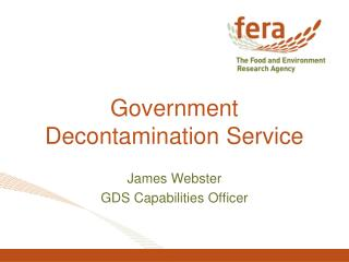 Government Decontamination Service