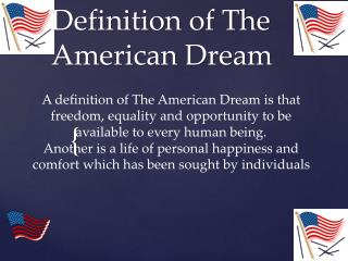 Definition of The American Dream