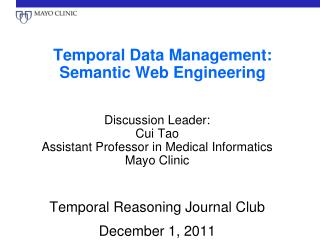 Temporal Data Management: Semantic Web Engineering