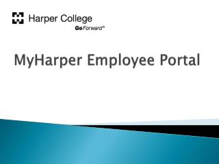 MyHarper  Employee Portal