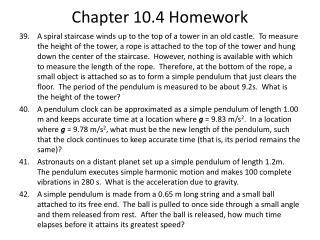 Chapter  10.4  Homework