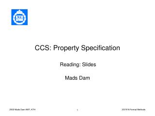 CCS: Property Specification
