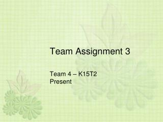 Team Assignment 3