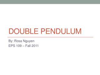 Double Pendulum