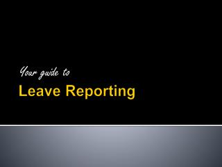 Leave Reporting