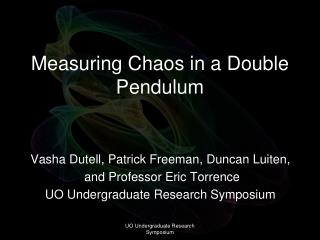 Measuring Chaos in a Double Pendulum