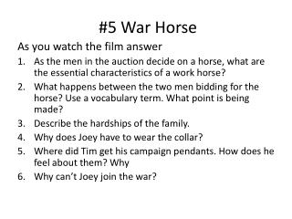 #5 War Horse