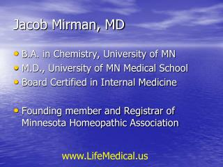 Jacob Mirman, MD