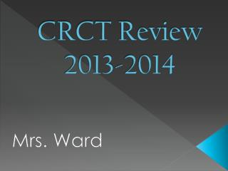 CRCT Review 2013-2014