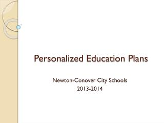 Personalized Education Plans