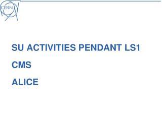 SU activities pendant LS1 CMS ALICE