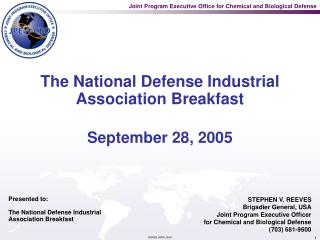 The National Defense Industrial Association Breakfast