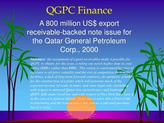 QGPC Finance
