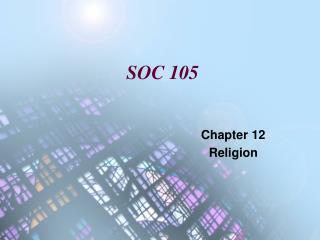 SOC 105