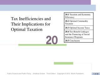Tax Inefficiencies and Their Implications for Optimal Taxation