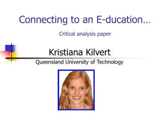 Connecting to an E-ducation...